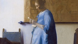Johannes Vermeer Woman In Blue Reading A Letter Wga24657
