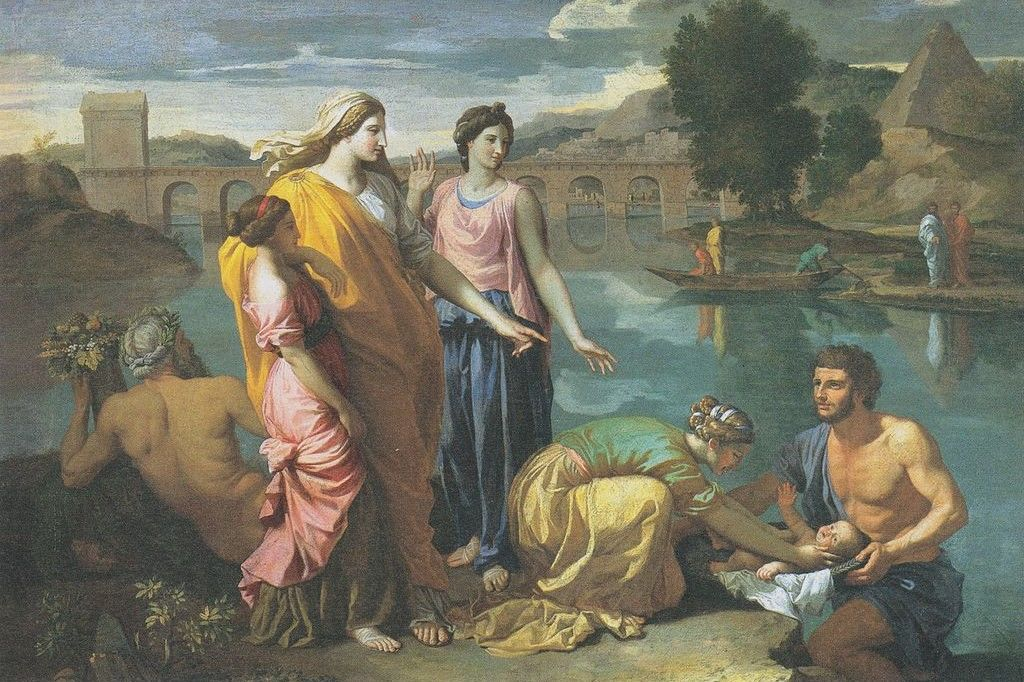 Poussin Die Auffindung Moses
