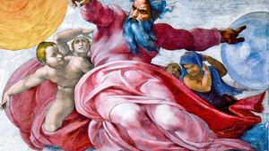 Michelangelo Creation Of Sun Moon And Planets Post Restoration Crop