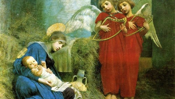 Marianne Stokes Angels Entertaining The Holy Child
