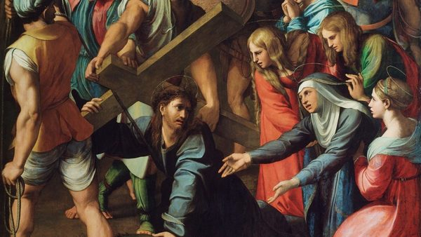 Christ Falling On The Way To Calvary Raphael E1521993118827