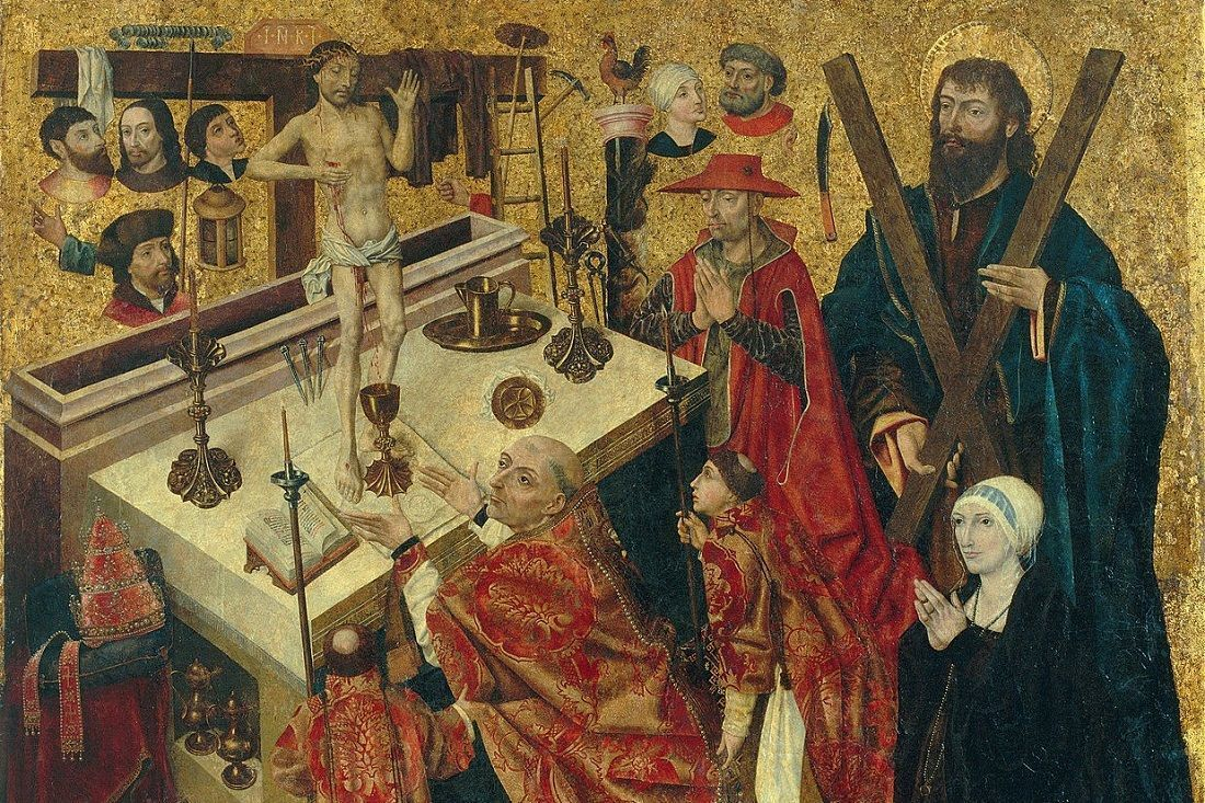 Diego De La Cruz The Mass Of Saint Gregory Google Art Project