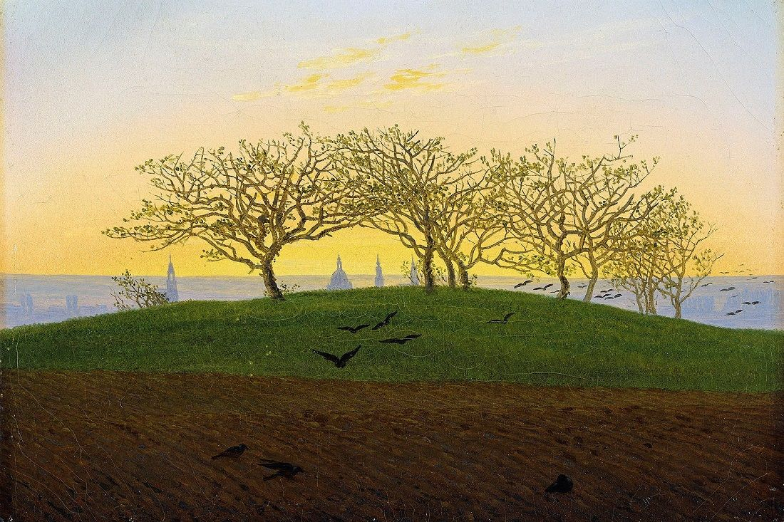 Hill And Ploughed Field Near Dresden By Caspar David Friedrich