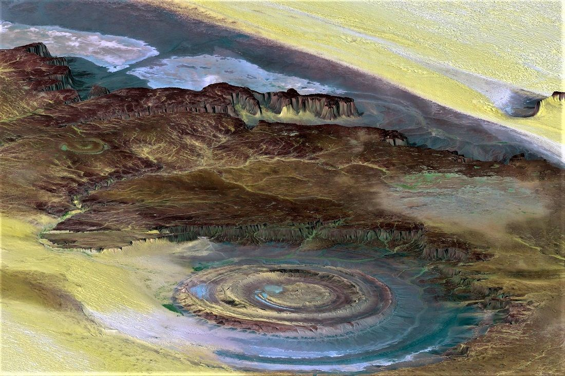 Richat Structure Srtm