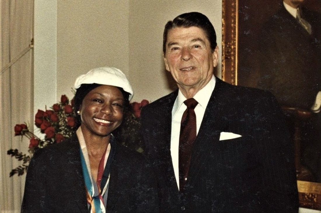 Mildred Jefferson And Ronald Reagan