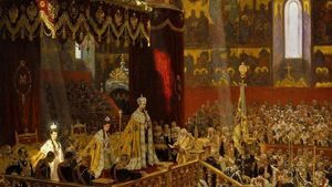 Coronation Of Nicholas Ii By L