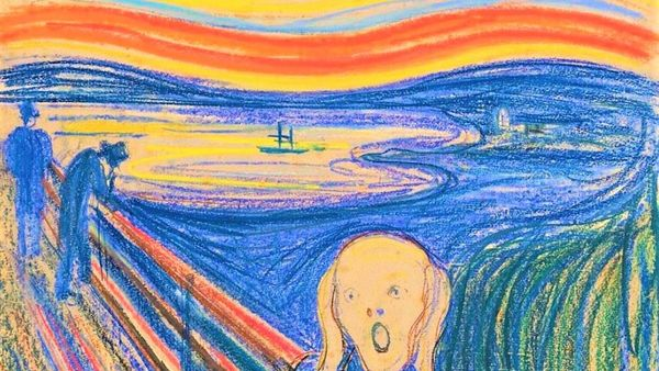 Munch Scream Pastel