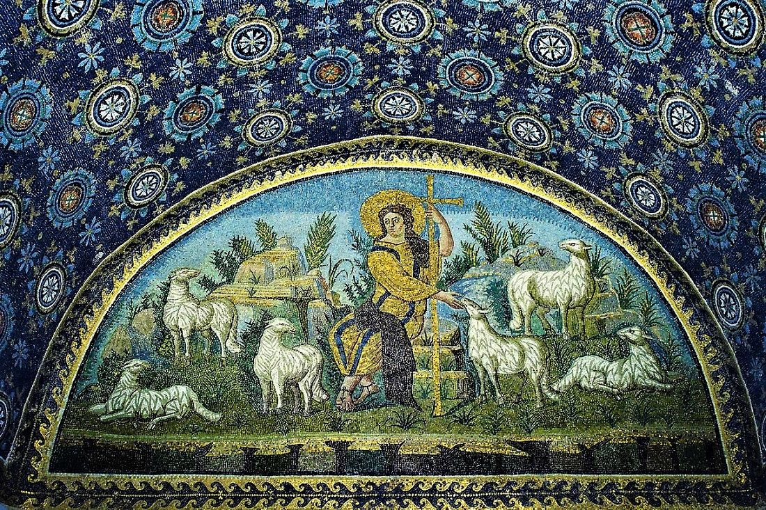 The Good Shepherd Mosaic Mausoleum Of Galla Placidia
