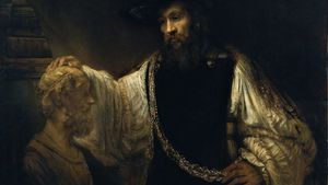 Rembrandt Aristotle With A Bust Of Homer Google Art Project