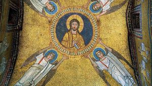Mosaic Of The Vault Of The Chapel Of San Zeno Ix Century