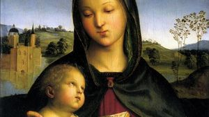 Raphael Madonna Child With The Book