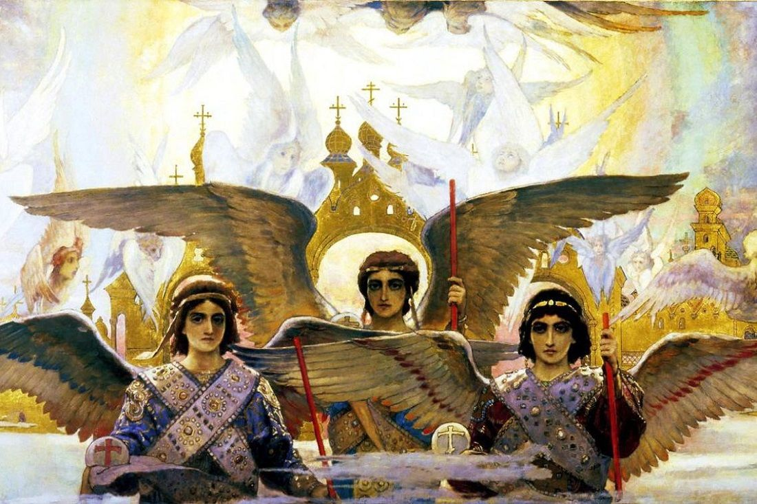 Viktor Vasnetsov Rejoice In The Lord O Ye Righteous Panel 2 Of The Triptych 1896