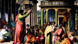 1280px Va Raphael St Paul Preaching In Athens 1515