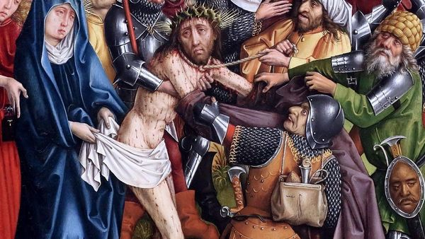 Master Of The Karlsruhe Passion Disrobing Of Christ