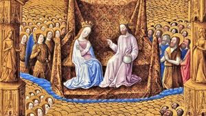 Tres Riches Heures Coronation Of The Virgin 1