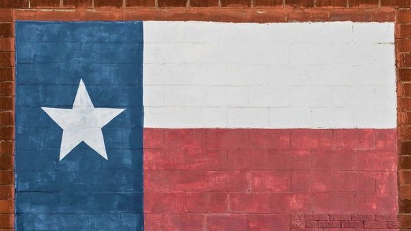 Likeness Of The Texas Lone Star State Flag Painted On The Bricks Of A Building In Cisco Texas Lccn2015630056