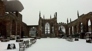 Coventry Cathedral Ruins In The Snow 01