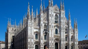 Milan Cathedral From Piazza Del Duomo Gothic