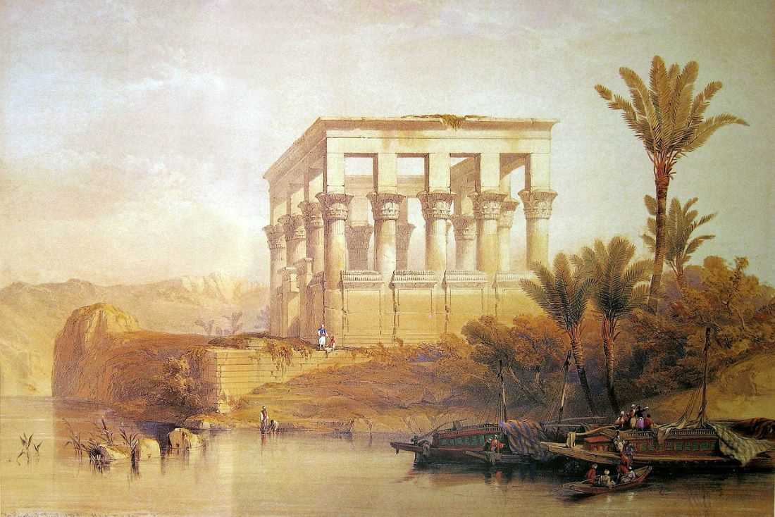 Image: David Roberts Hypaethral Temple Philae Middle East