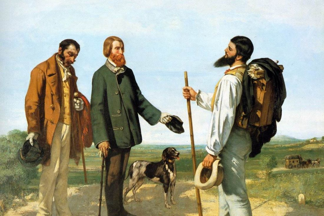 Gustave Courbet The Meeting Or Bonjour Monsieur Courbet Wga05463