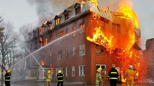 1280px Fire Inside An Abandoned Convent In Massueville Quebec Canada