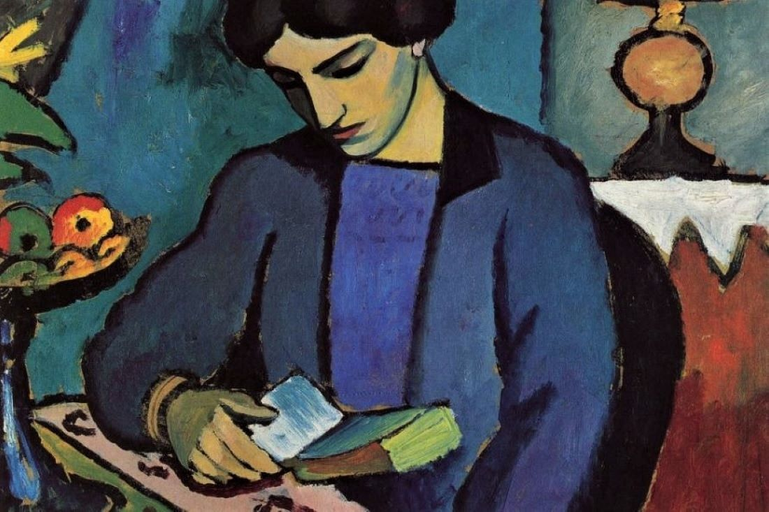 August Macke Blue Girl Reading