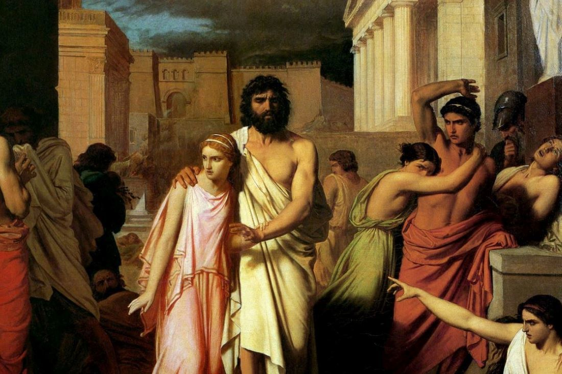 Charles Jalabert Oedipus And Antigone At Thebes 1842