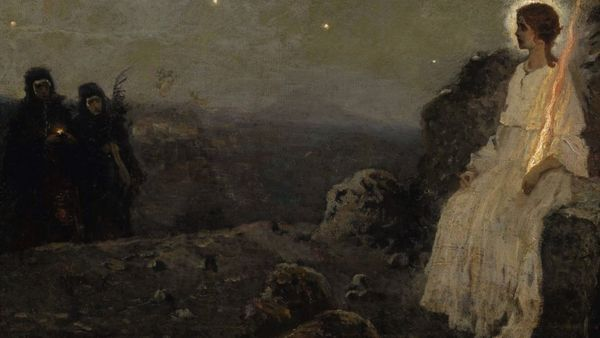 1100 Mikhail Nesterov Angel At The Tomb