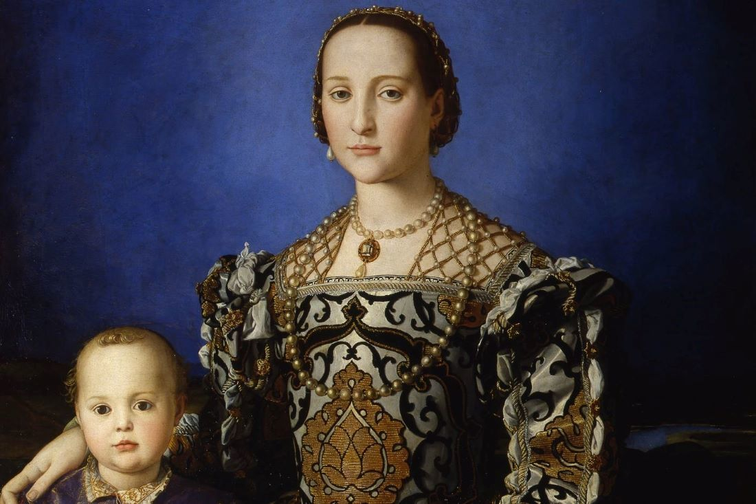 1100 Agnolo Bronzino Portrait Of Eleanor Of Toledo With Her Son Giovanni De Medici 1545