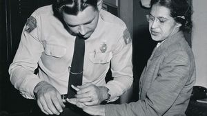 1100 Rosa Parks Being Fingerprinted By Deputy Sheriff D