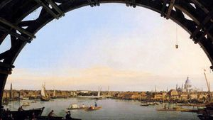 1100 Canaletto The City Seen Through An Arch Of Westminster Bridge