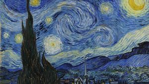 1100px Van Gogh Starry Night 1889