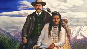 1100px Painting Of Starr Jacob Maxwell And Chief Joseph