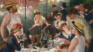 1100px Pierre Auguste Renoir Luncheon Of The Boating Party Google Art Project