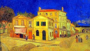 1350 Yellow House Van Gogh 1888 Version