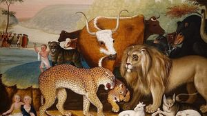 1350px The Peaceable Kingdom By Edward Hicks C