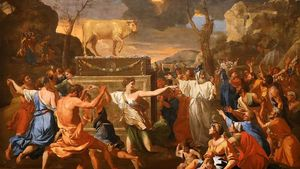 Poussin Golden Calf