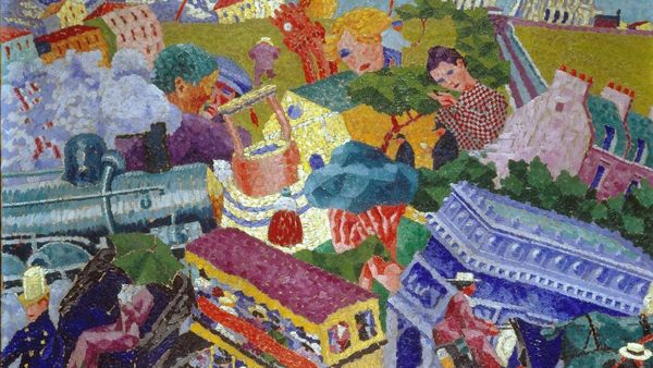 1500 Gino Severini 1911 Souvenirs De Voyage Oil On Canvas