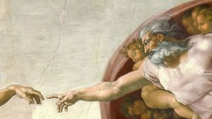 1500 Creation Of Adam Michelangelo Good